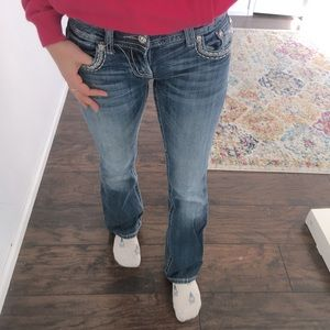 Miss Me - boot cut jeweled jeans